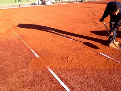 Remodelación de pistas de tennisquick a G-Clay