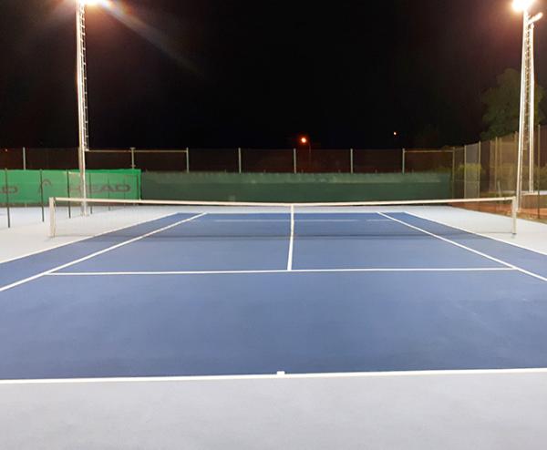 Pista de tenis construida con gamelife system
